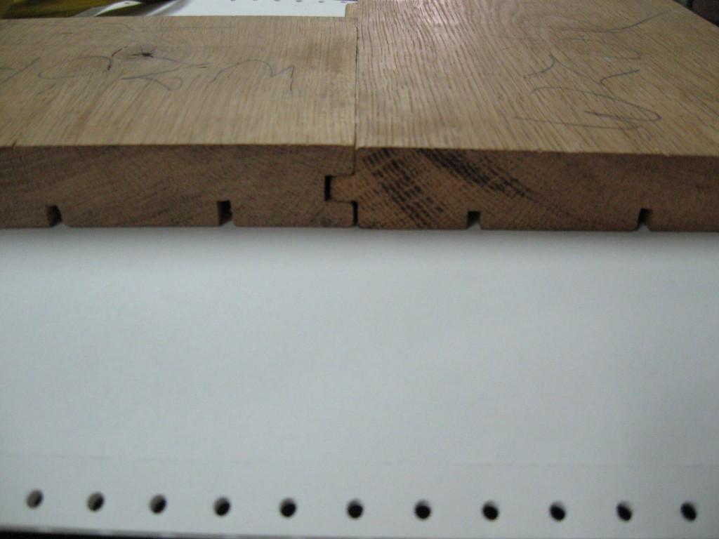 Przekrój desek podłogowych po złożeniu