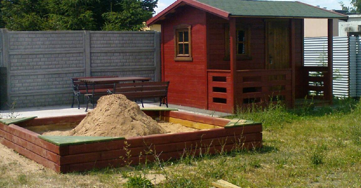 domek po ukończeniu budowy