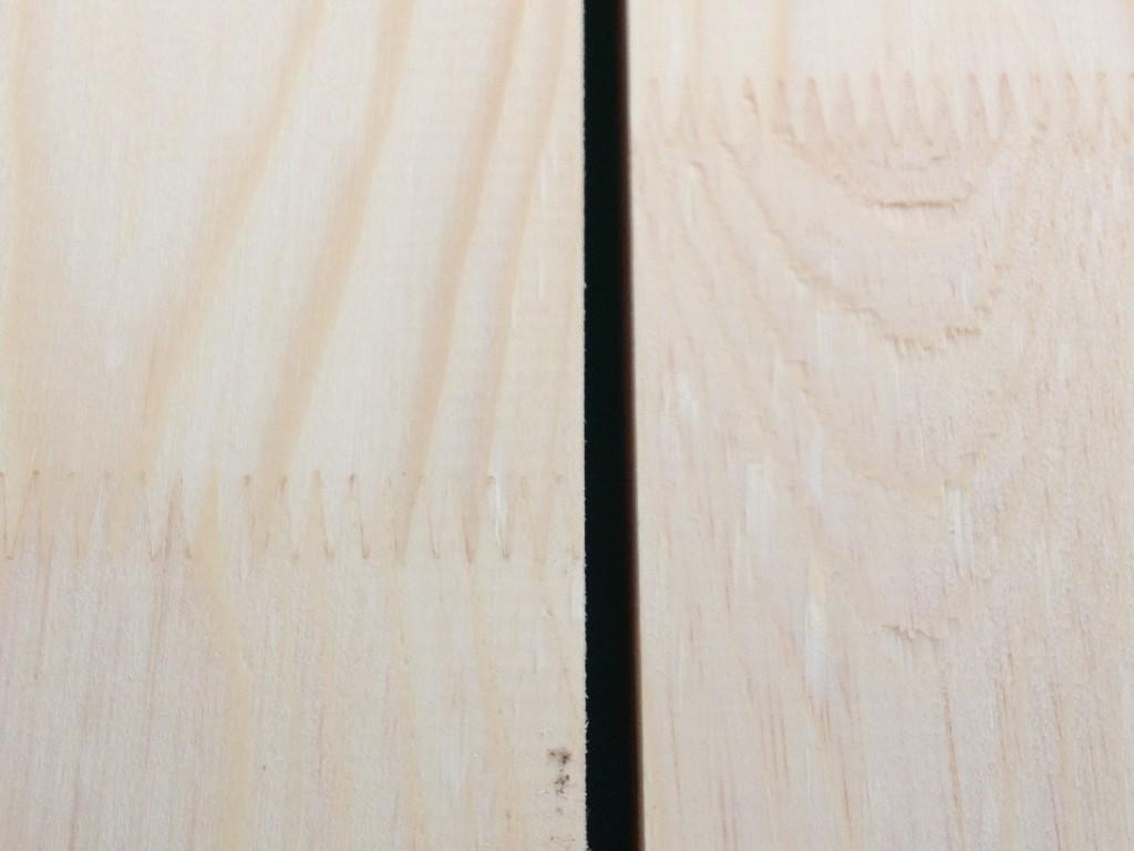 wygląd oheblowanego drewna