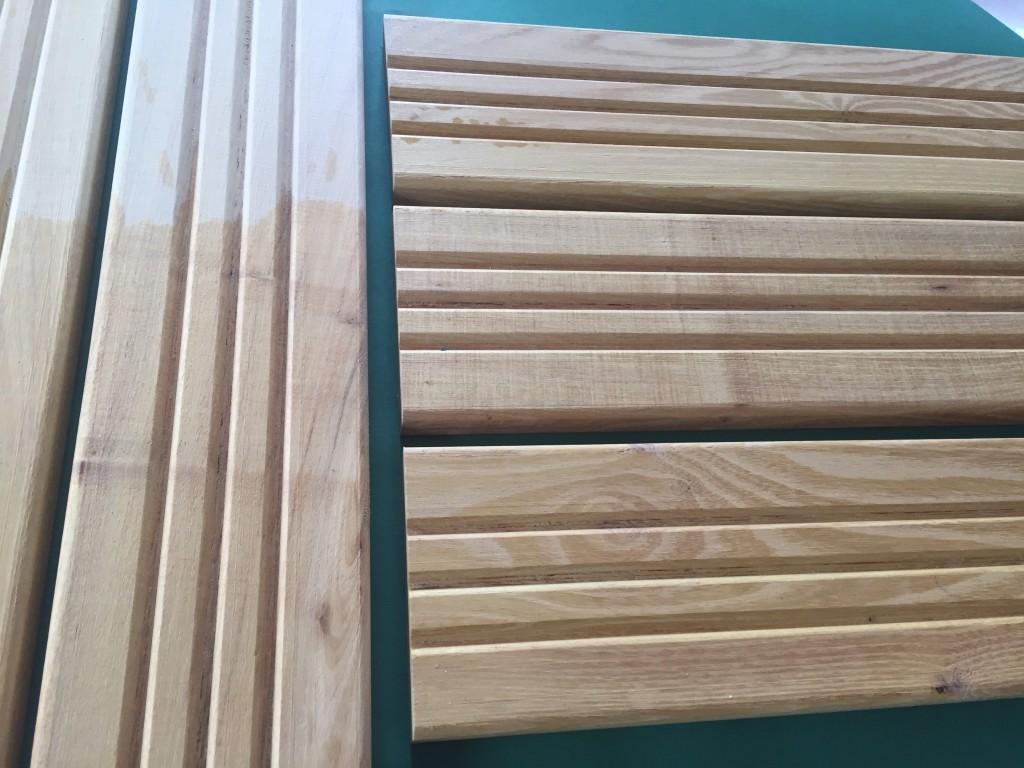 drewno liściaste, częściowo olejowane