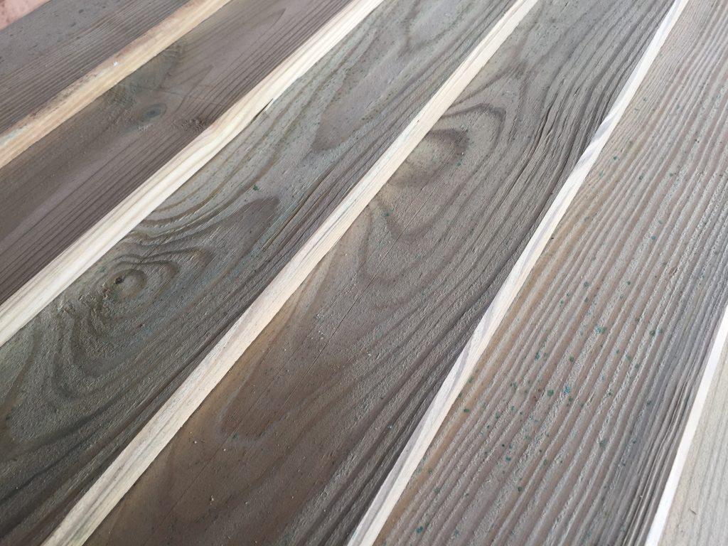 Widok pokrycia - drewno po impregnacji.