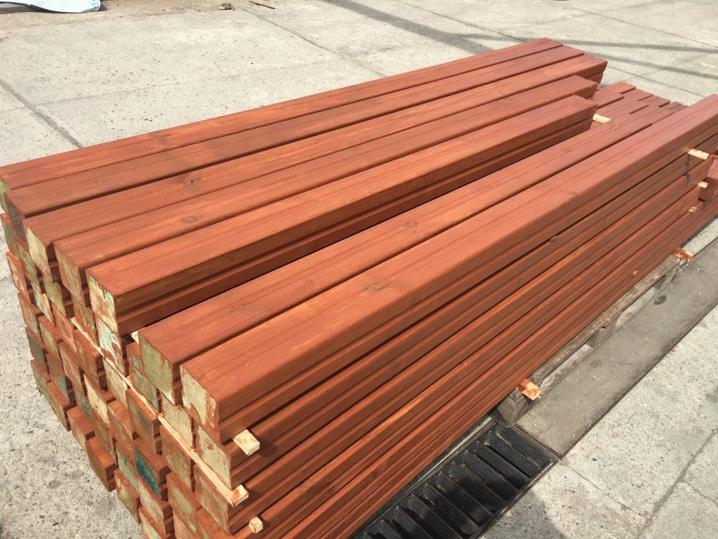 drewno malowane po impregnacji ciśnieniowej